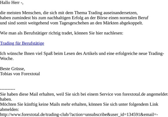 email de trading mit