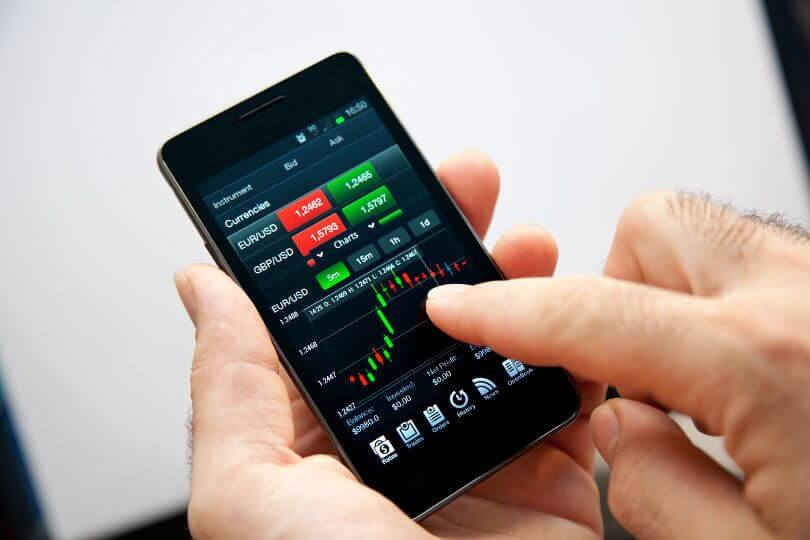 application de trading mobile)
