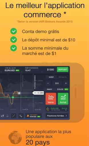 application doptions binaires sur iOS)
