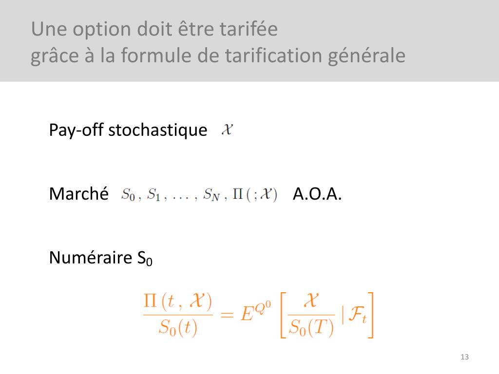 formule de tarification des options)