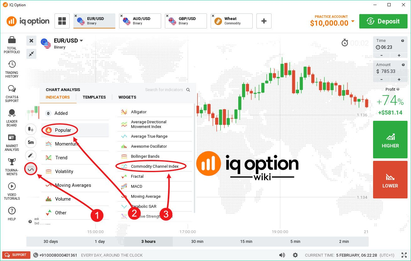 indicateurs pour les options binaires option iq