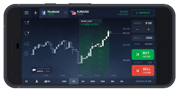 application de trading mobile