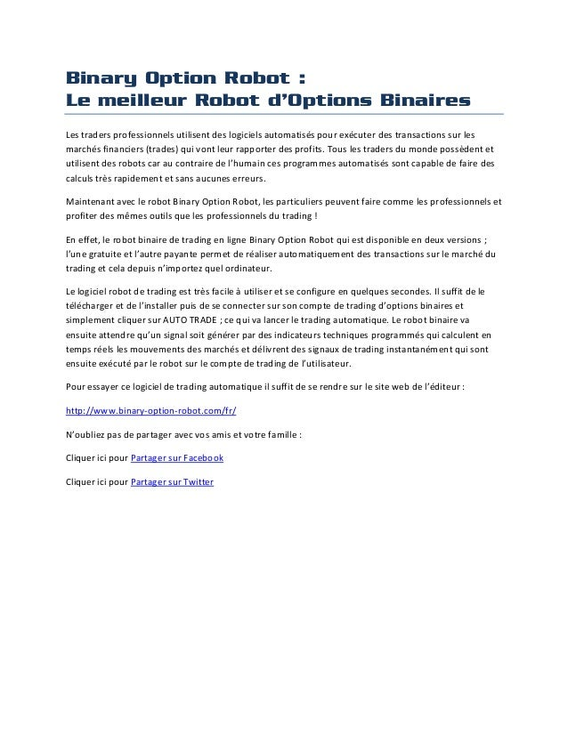 Avis sur le trading d'options binaires