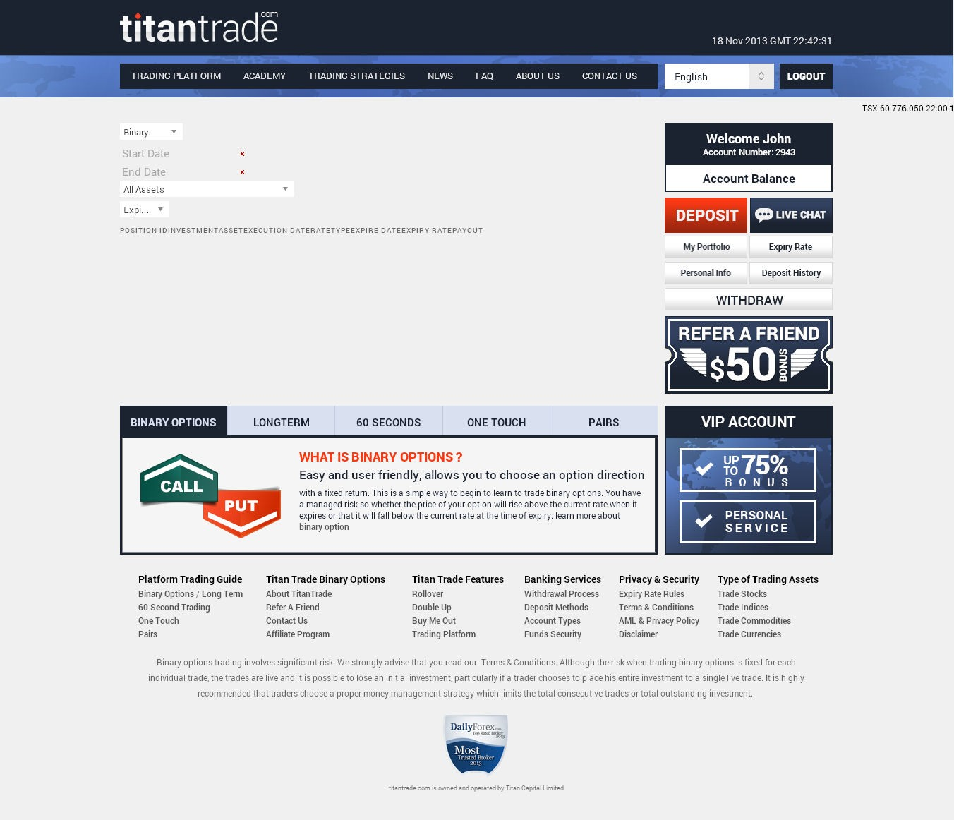 Titan Trade ou la titanesque arnaque option binaire