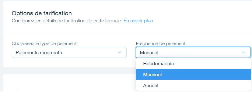 formule de tarification des options