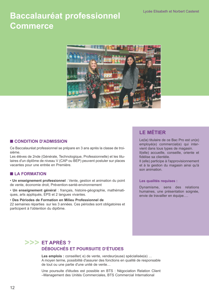 options commerciales comme