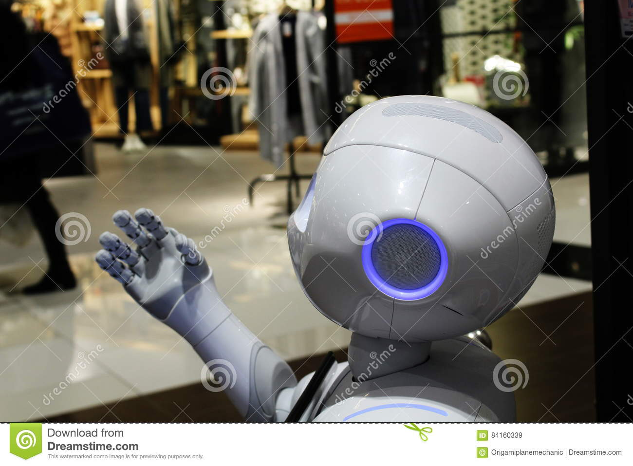 robot de centre commercial)