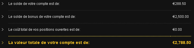 options ouvertes binaires)