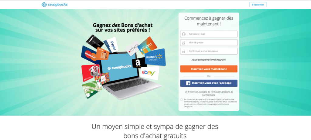 sites pour de largent facile sur Internet